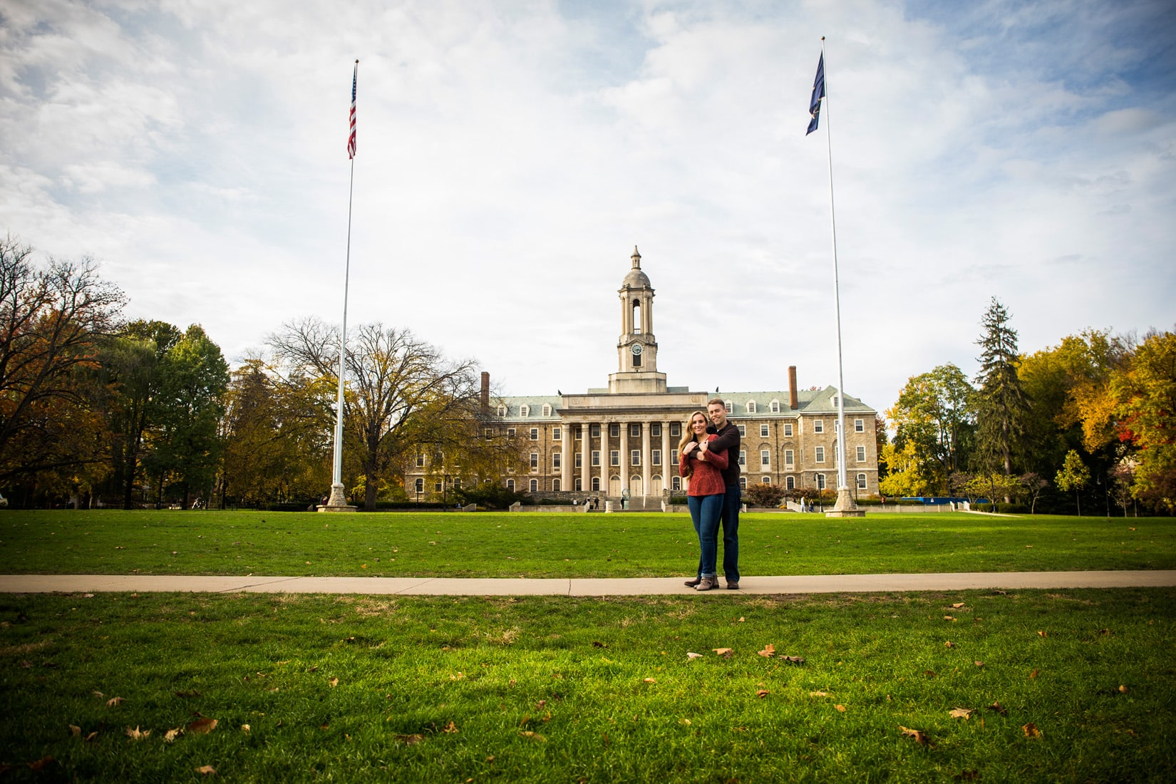 Penn State Engagement - Old Main - Bob Lambert Photography
