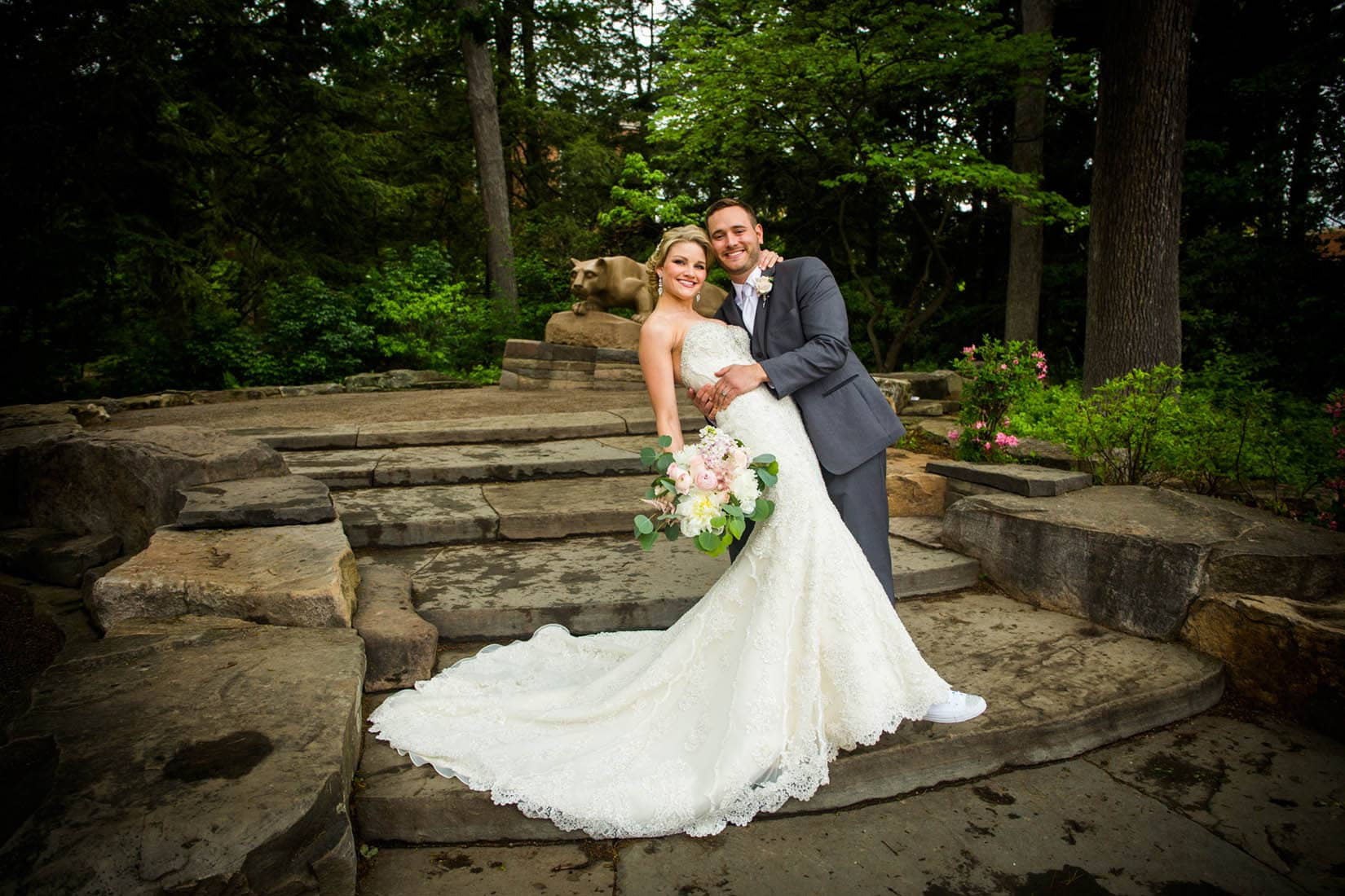 Nittany Lion Shrine, Penn State Wedding, State College, PA – Bob Lambert Photography