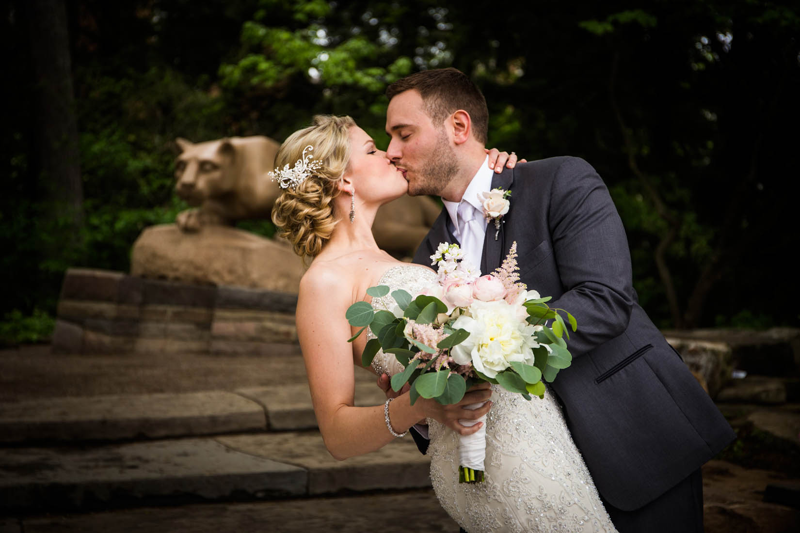 Penn State Wedding, Nittany Lion Shrine – Bob Lambert Photography