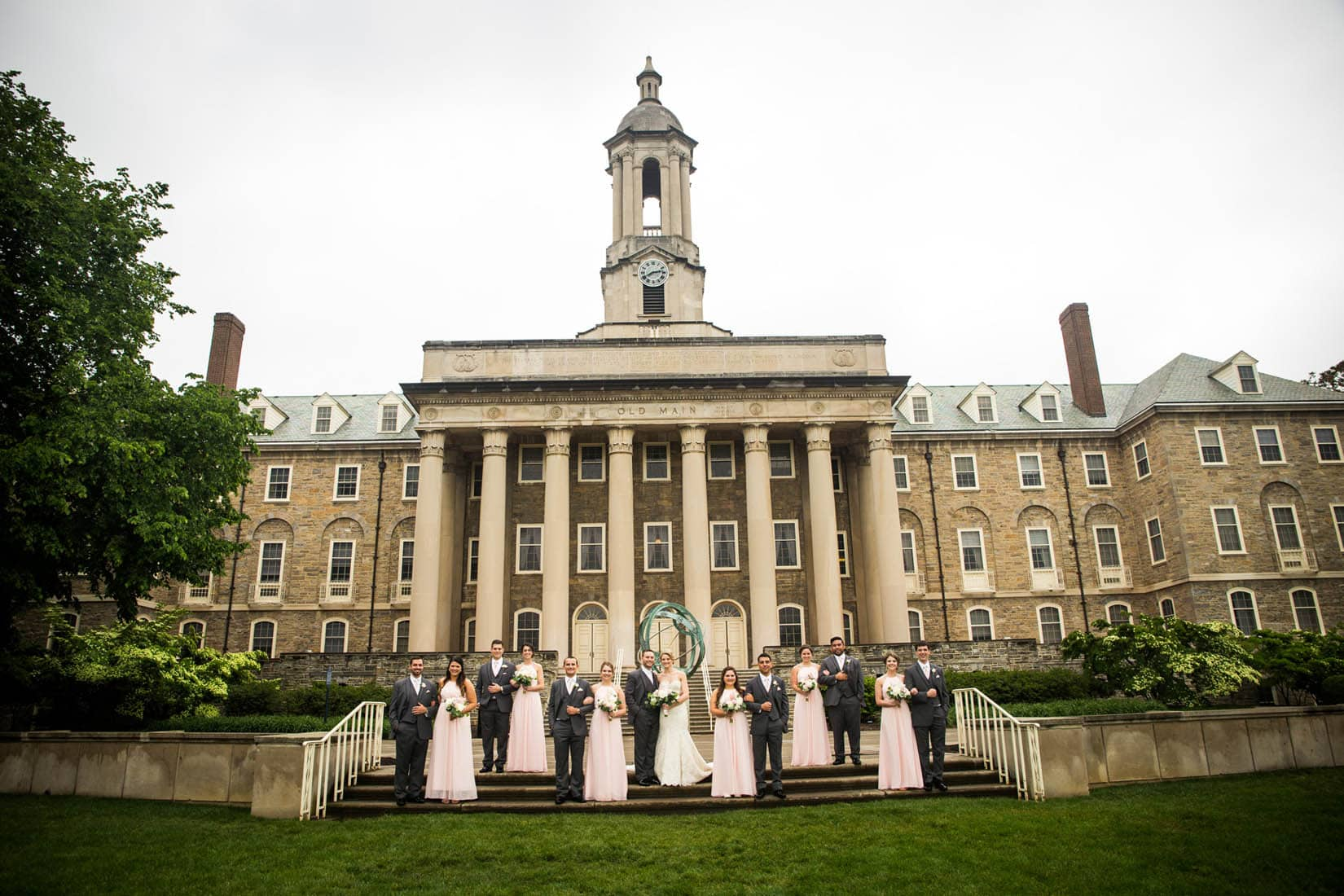 Old Main, Penn State Wedding, State College, PA – Bob Lambert Photography